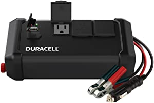Duracell DRINV400 High Power Tailgate Inverter 400 Watt Peak 320W Continuous, 12v DC Input Includes 2 AC Outlets (115V) Plus 2.4 Amp USB (5V)