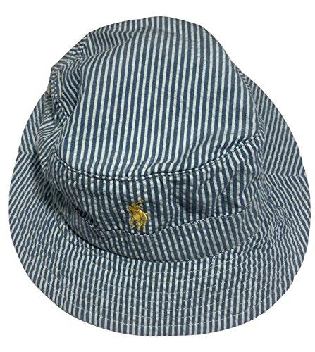 Polo-Ralph-Lauren-Bucket-Hat-Seersucker-Blue-White-Pony-Logo-SM