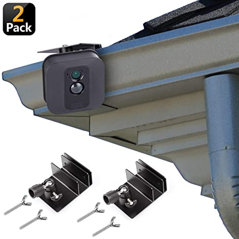 [Upgraded Version] Gutter Mount for Blink XT & Blink XT2 Outdoor Camera,  Best Viewing Angle for Your Blink XT Camera, Weatherproof Aluminum Alloy