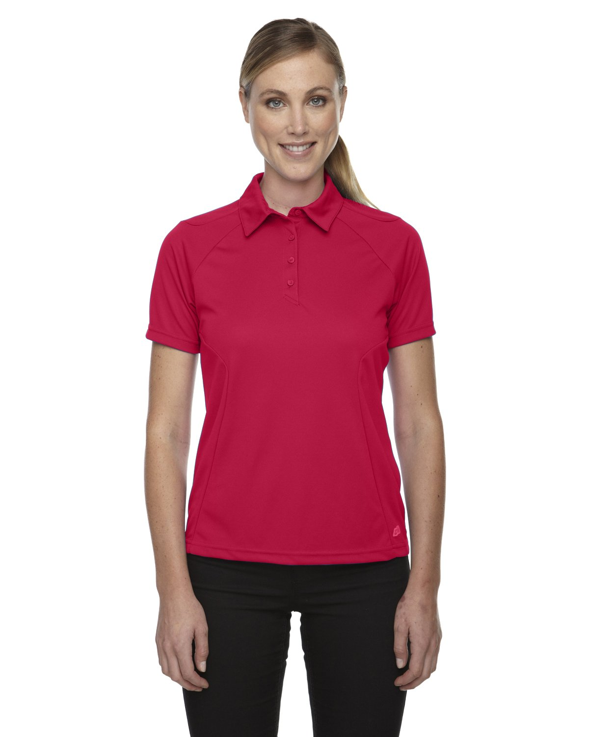 Ash City Womens Dolomite Performance Polo (Small, Olympic Red) by Ash City Apparel