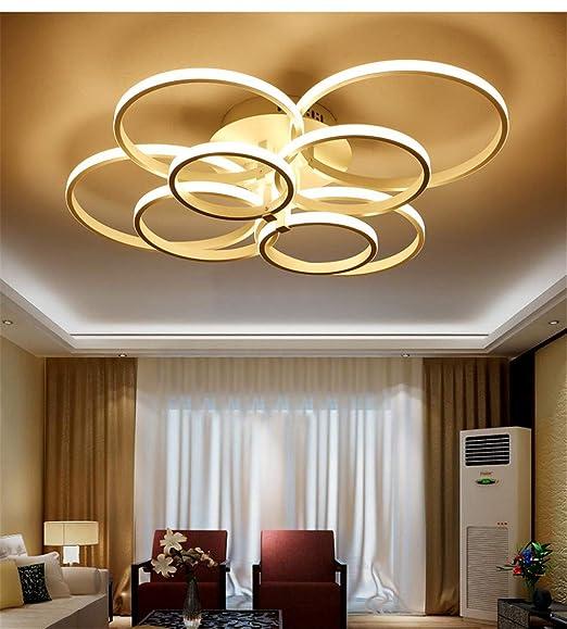 LQFLD LED lámpara de Techo acrílico Modernas Luces de Techo salón ...