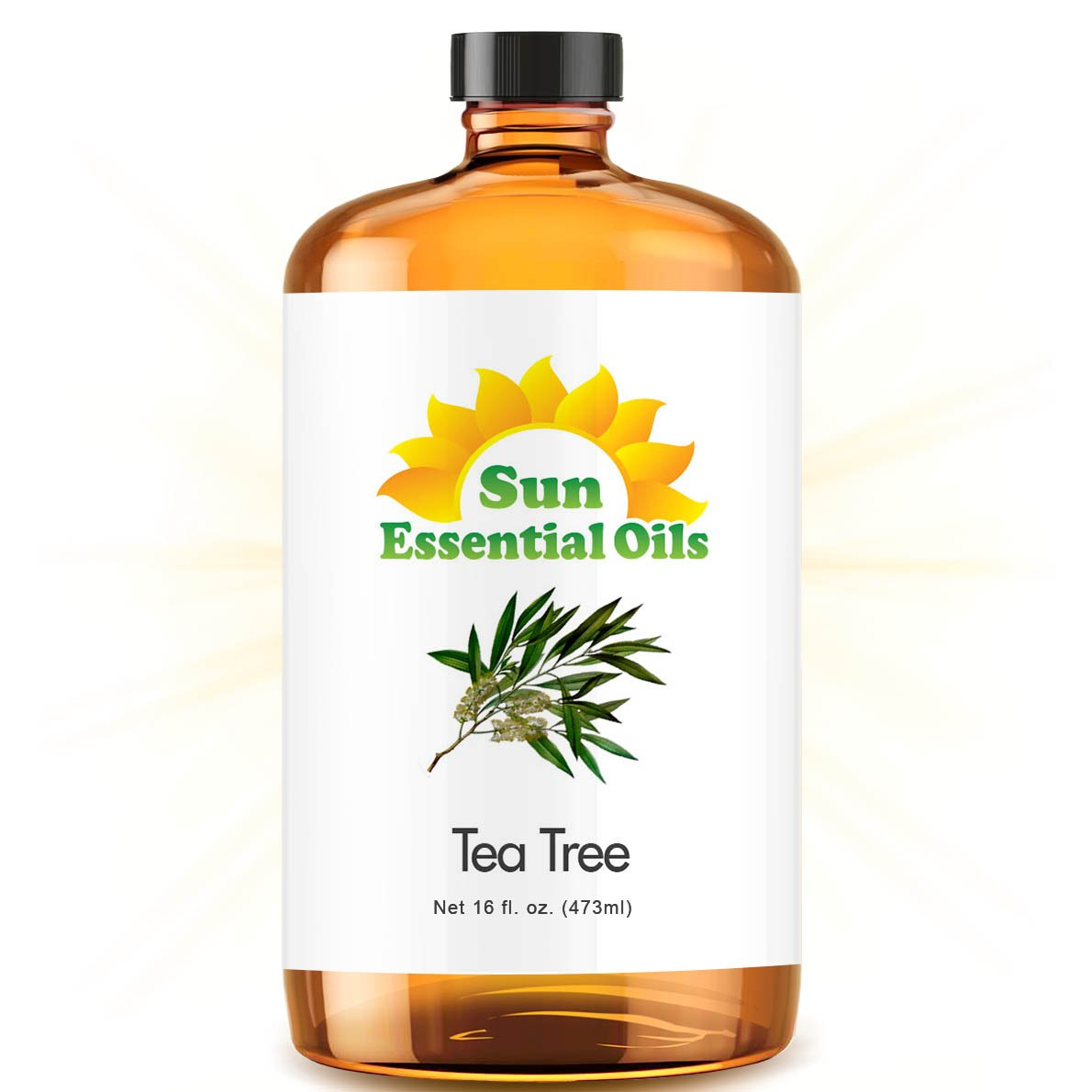 Bulk Tea Tree Oil - Ultra 16 Ounce - 100% Pure Essential Oil (Best 16 fl oz / 472ml) - Sun Essential