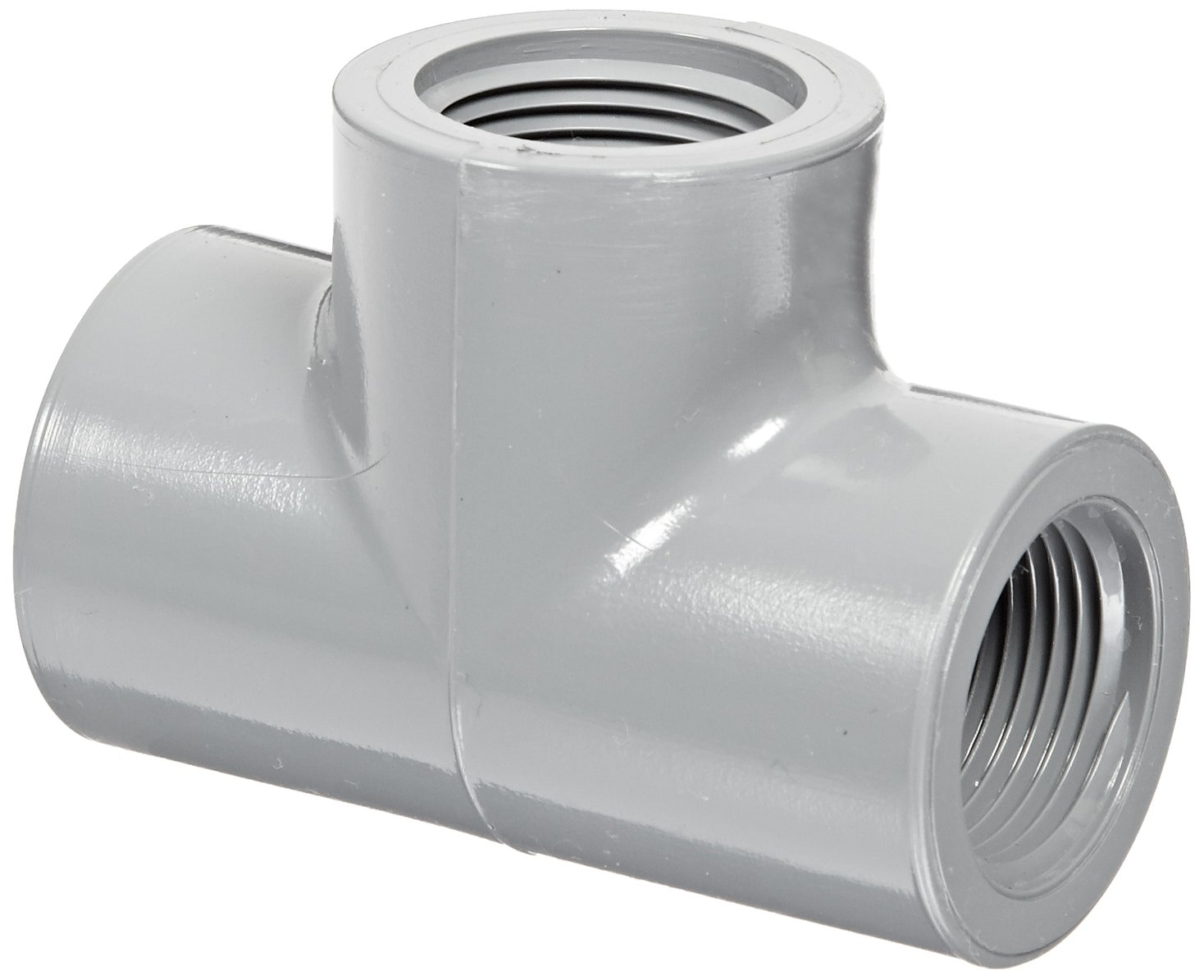 1//2 NPT Female Schedule 80 Tee Spears 805-C Series CPVC Pipe Fitting