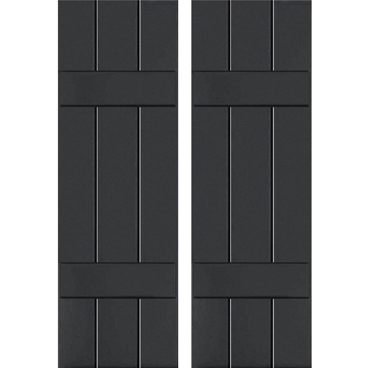 Ekena Millwork RWB12X055BLW Exterior Three Board