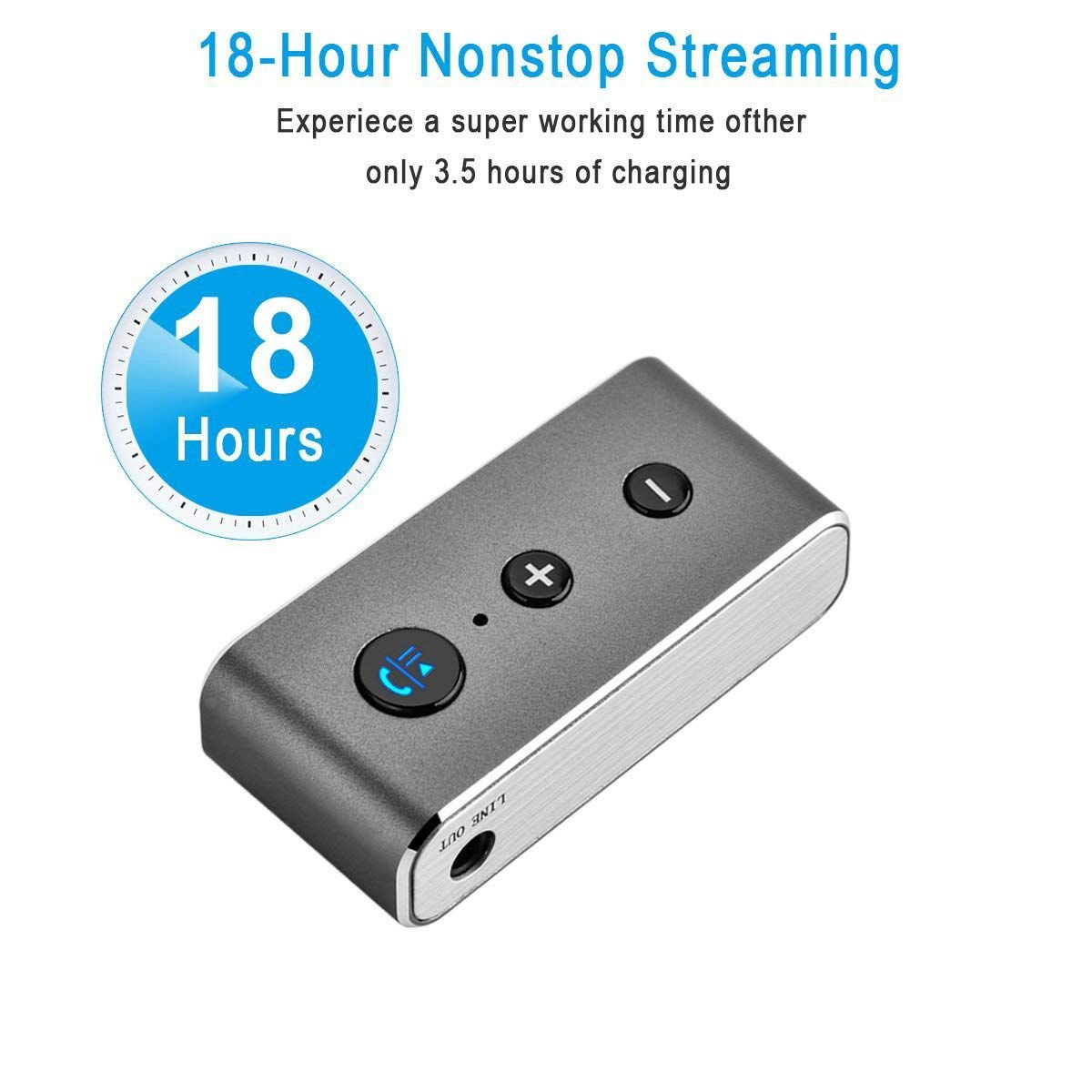 BT710 3.5mm Aux USB Wireless Bluetooth Audio Music Reciever TF Card Slot 2.4GHz