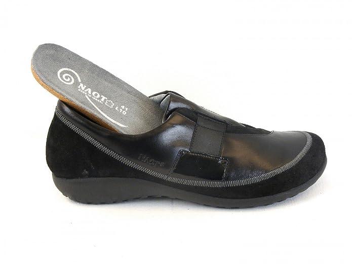 Damen Schuhe Halbschuhe Leder Otago schwarz 6670 Wechselfußbett Lederfutter, Größe:36 Naot