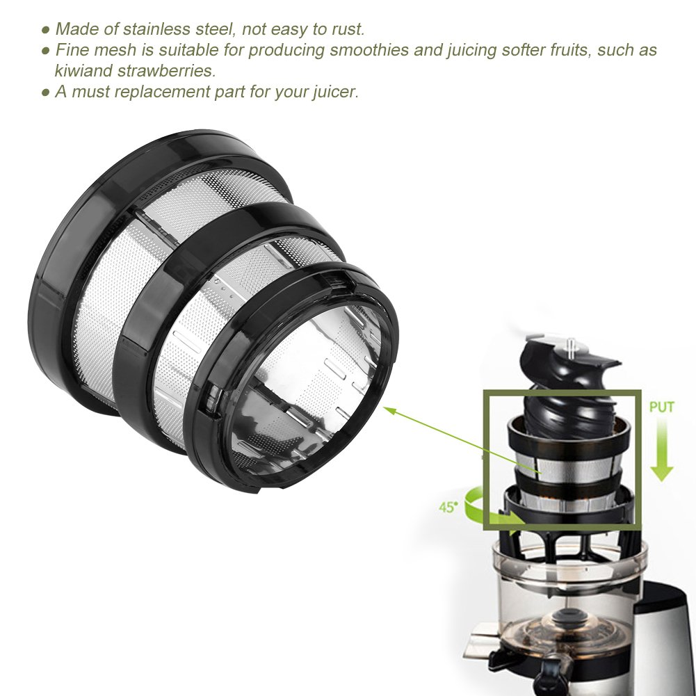 Juicer Filters,Slow Juicer Fine Mesh Screen Strainer Filter Small Hole for Hurom HH-SBF11 HU-19SGM Parts Filters Basket by Haofy (Image #4)