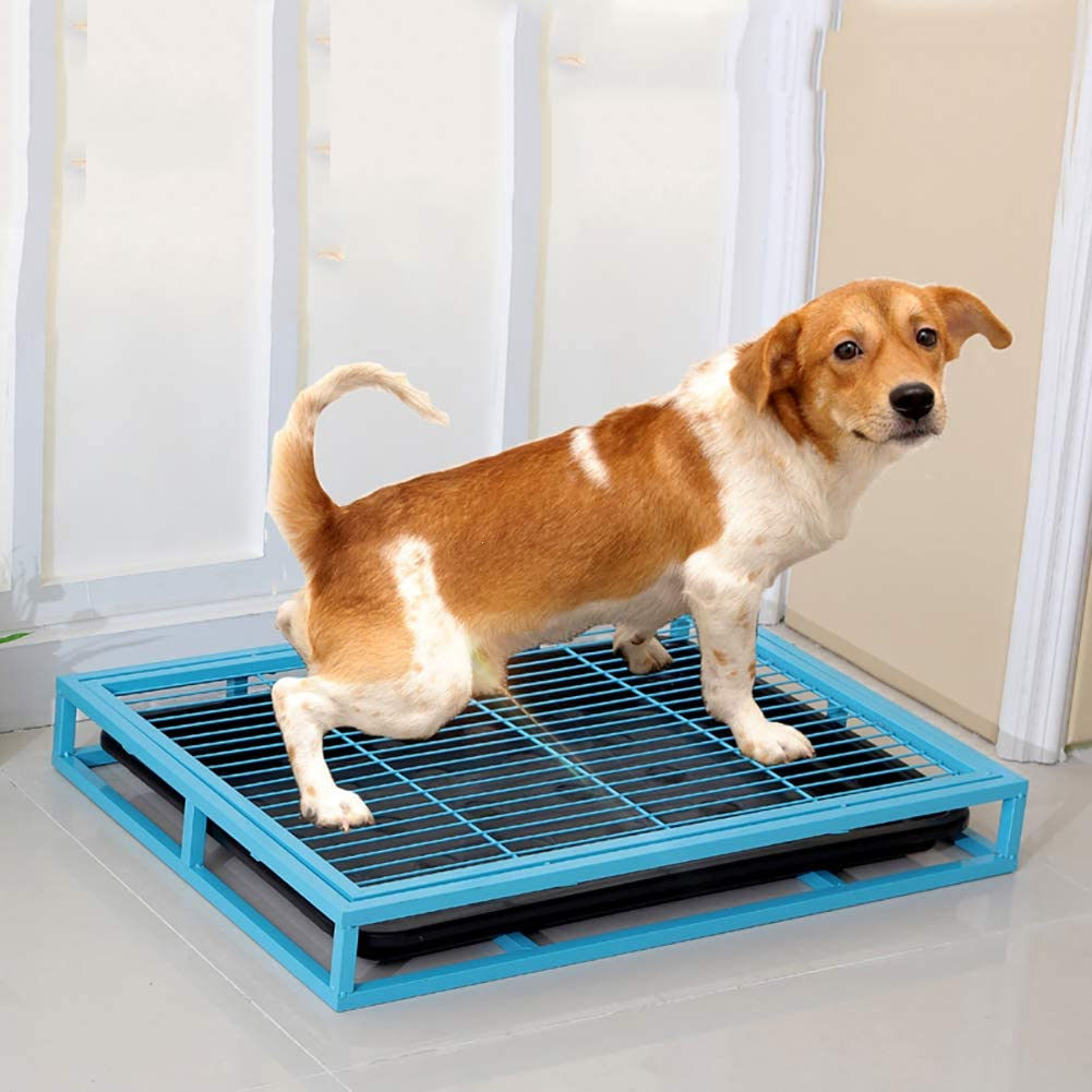 QL Stainless Steel Dog Toilet With Pvc Tray Large-capacity Grid Design Pet Potty Easy To Clean And Non-slip Split Design With Strong Bearing Capacity