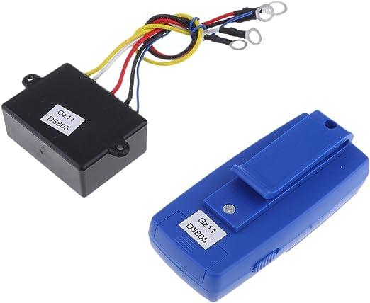 Perfk 12v Elektrische Drahtlose Seilwinde Motorwinde Fernbedienung Türöffner Fernsteuerung Für Fahrzeuge Auto