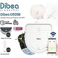 [2 Years Local Warranty] FREE ADDITIONAL HEPA FILTER - Dibea D500-B D-Shape Smart Robotic Vacuum Cleaner + Water Tank…