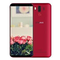 M-HORSE Pure 3 Móvil y Smartphone Libre 4G Android 7.1 18:9 Pantalla Completa 5,7 Pulgadas HD+ 4000mAh OctaCore 8MP/5MP +13MP/5MP Cámara 4GB RAM + 64GB ROM Huella Digital 2.5D Vidrio GPS FM Dual SIM Rojo