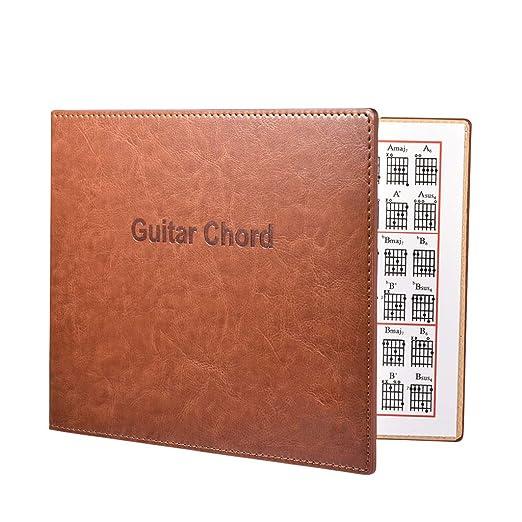 planuuik Guitar Chord Book Cuero de PU 6 Cuerdas Tablatura ...