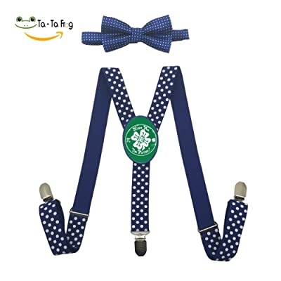 Grrry Kids Kiss Me I'm Pirish PI Adjustable Y-Back Suspender+Bow Tie