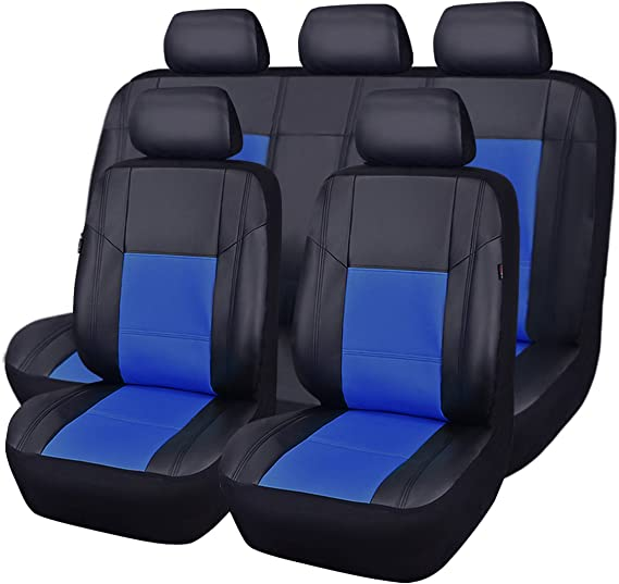 NEW ARRIVAL- CAR PASS Skyline PU LEATHER CAR SEAT COVERS - UNIVERSAL FIT FOR CARS
