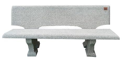 Panchine In Cemento Da Esterno.Artistica Granillo Panchina In Cemento Con Inerti A Vista 175x70 H72 Cm