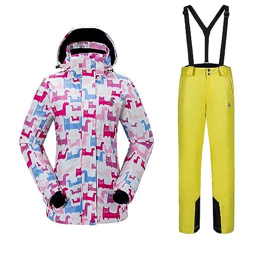 Chengzuoqing Traje de Esquiar Chaqueta de esquí Colorida de ...