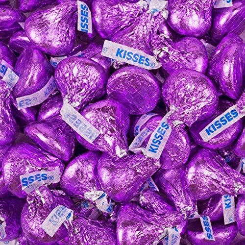 Premium Purple Candy Buffet - (15+ Pounds) Includes Hershey's Kisses, M&M's, Candy Coated Popcorn, Jelly Belly Jelly Beans & More - Feeds approx 24-36 people by WH Candy (Image #1)