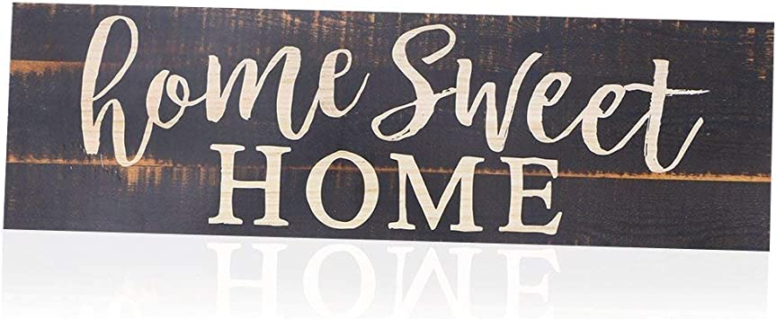 Amazon.com: BinaryABC Home Sweet Home - Placa decorativa de ...