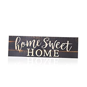 BinaryABC Home Sweet Home Wooden Sign Door Plaque Ornament Decor 40 X 12 X 0.5CM