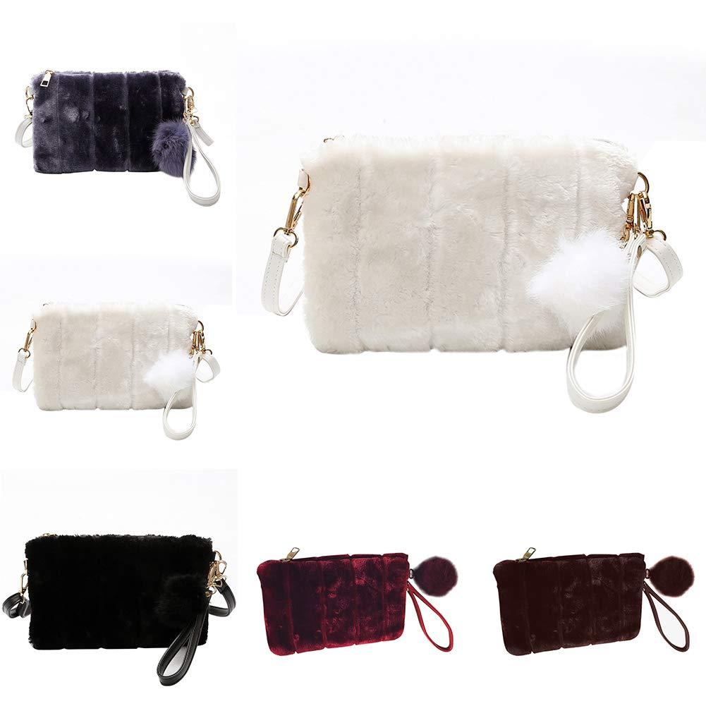 34239a6381 Amazon.com : Shoulder Pouch for Girls, Fashion Fluffy Envelope Shape Thin  Strap Women Shoulder Bag Coin Purse Pouch - White : Beauty