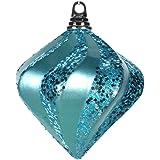 "Vickerman M133212 Candy Glitter Swirl Diamond Decor, 6"", Teal"