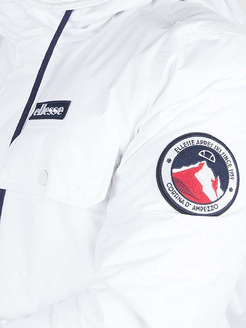 ellesse Herren Dolomiten Logo Jacke, Weiß, X-Large  Amazon.de  Bekleidung 28371ab1b5