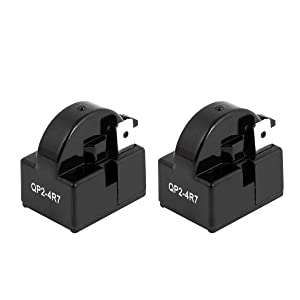Saim 4.7 Ohm 1 Pin Refrigerator PTC Starter Relay QP2-4R7 Black Pack of 2