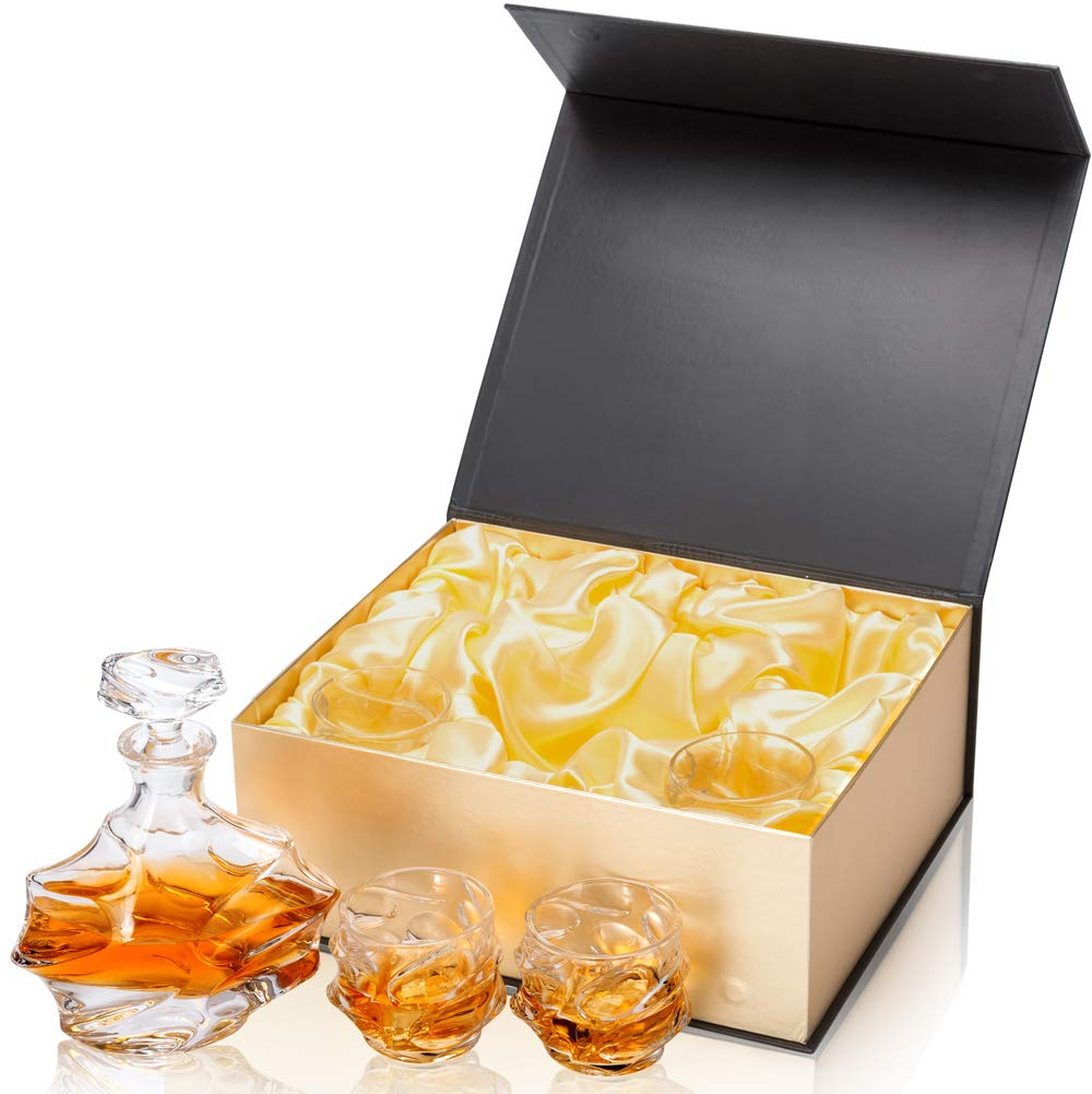 KANARS Emperor Whiskey Decanter And Glasses Set With Luxury Gift Box For Scotch + Bourbon + Liquor, 5-Piece, Original by KANARS (Image #3)