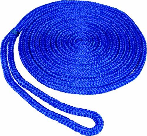 (SeaSense Pre-Spliced Double Braid MFP Dock Line, 1/2-Inch X 25-Foot, Blue)