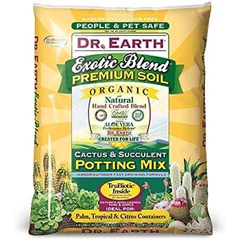 Dr. Earth 810 Exotic Cactus & Succulent Soil, 8 quart