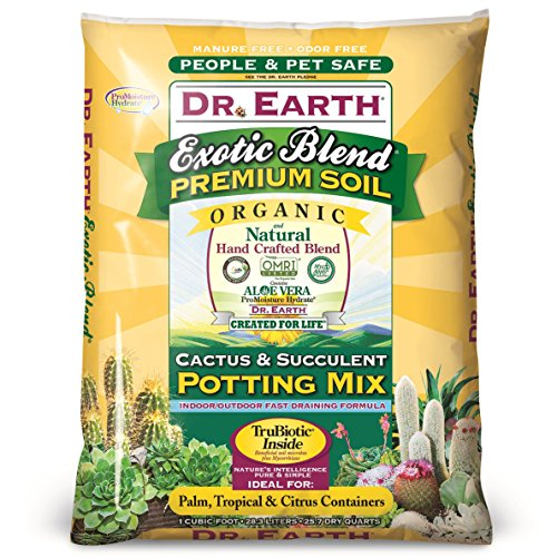 Dr. Earth 749688008105 810 Exotic Cactus & Succulent Soil, 8 Quart