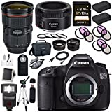 Canon EOS 5DS-R 5DSR DSLR Camera + EF 24-70mm f/2.8L II USM Lens + Canon EF 50mm f/1.8 STM Lens + LPE-6 Lithium Ion Battery + Canon 100ES EOS shoulder bag Bundle 15