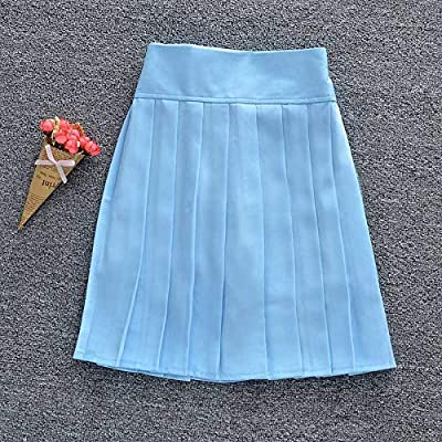 HEHEAB Falda,Luz Azul Falda Plisada Mujer con Shorts Schoolgirl ...