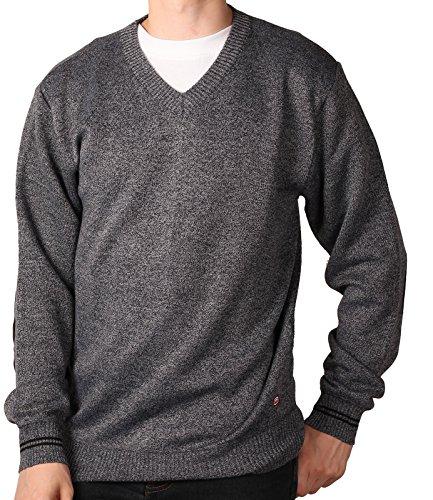 Marled V-neck Sweater (Ecko Unltd. Young Men's Marled V-Neck Sweater, Dark Grey, Size X-Large)