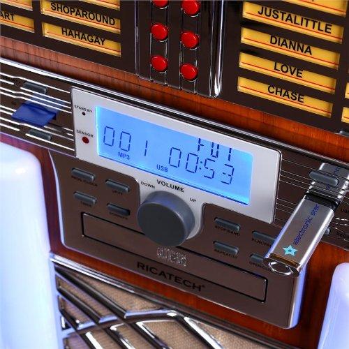 Ricatech rr2100 Jukebox USB SD AUX CD AM/FM: Amazon.es ...