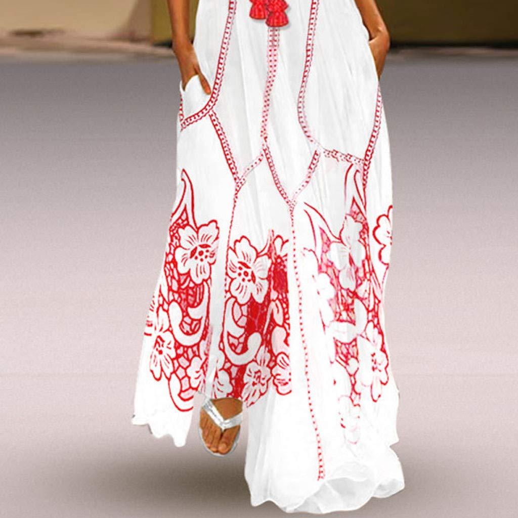 Yellsong Oversized Tassel Maxi Dress,Vintage Long Dress for Women, Summer Boho Dress Oversized Tassel Maxi Dresses for Travel Beach Holiday Party by Yellsong-Clothing (Image #3)