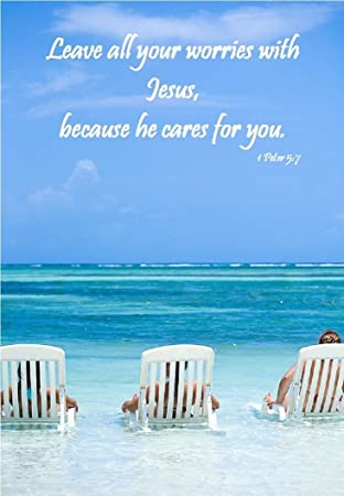 Amazon.com: Leave todos sus dudas Jesús.. playa – Christian ...