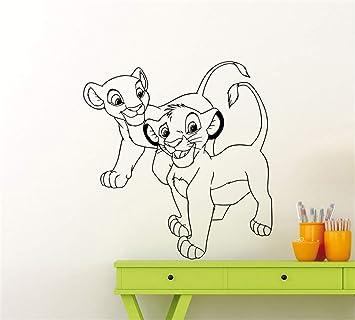 pegatina de pared pegatina de pared frases Lion King Decal Lion ...