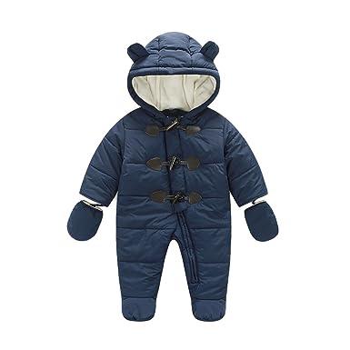 e72d6824f Amazon.com  ZAMME Baby Boys Girls Newborn Pram Outwear Snowsuit 6-24 ...