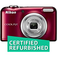 (CERTIFIED REFURBISHED) Nikon Coolpix A10 16.1MP Point and Shoot Camera with 5X Optical Zoom (Red) with Memory Card and Camera Case