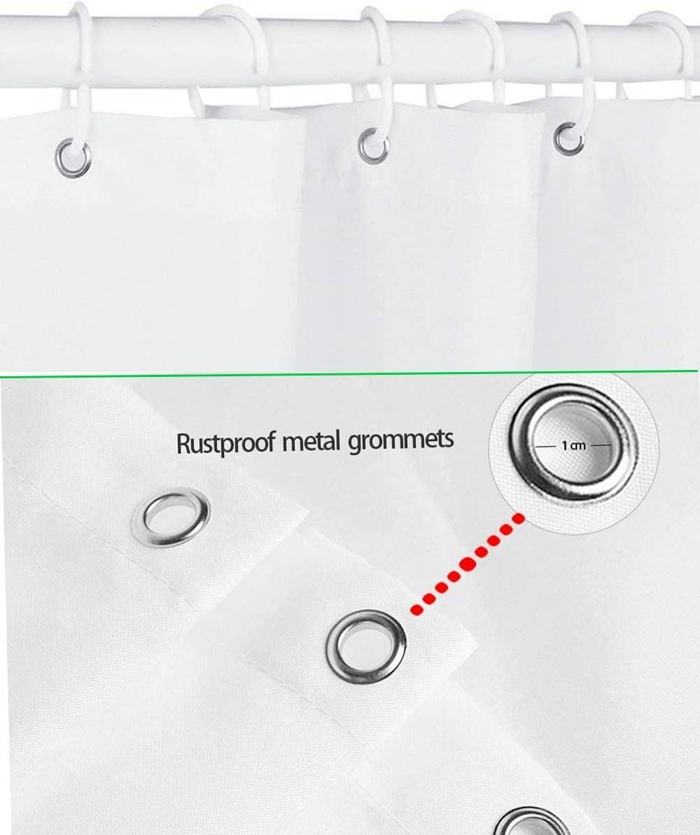 -150x180CM Digitale Stampato Antibatterico Prova della Muffa Lavabile,12 Anelli per Tende Doccia per Vasca da Bagno|100/% Polyester Impermeabile Tende da Doccia Tartaruga