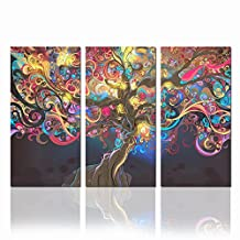 Abstract Nude Sex Women Modern Wall Art Canvas for Living Room,creative Tree Picture Framed on Canvas,3 Panel Artwork for Wall Decor Ready to Hang