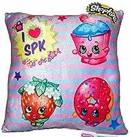"Shopkins Pillow Season 1 2 3: Strawberry Kiss, Cupcake Chic, Dlish Donut (12"" x 12"")"