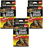 (3 Pack) Zoo Med ReptiCare Ceramic Infrared Heat Emitters 60 Watts