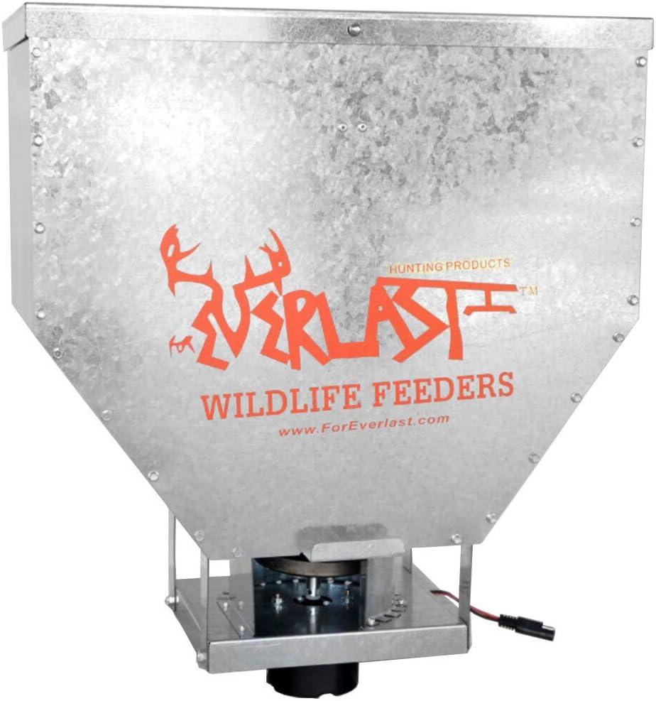 ForEverlast Galvanized Steel ATV Spreader Hitch Mount, Truck Deer Feeder, UTV Feeder & Tailgate Feeder Great as a Corn Spreader for Wildlife and Hunting, 50 LBS