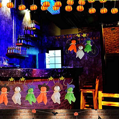 Halloween Party Decorations Ghost Strings 5.6 Feet Long Halloween 6 Hanging Ghosts Prop Hanging Toys for Outdoor Indoor Bar (Halloween Yard Decorations Crafts)