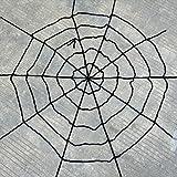 COOL IDEA 4.9FT JUMBO HALLOWEEN CREEPY SPIDER +11FT SPIDER WEB