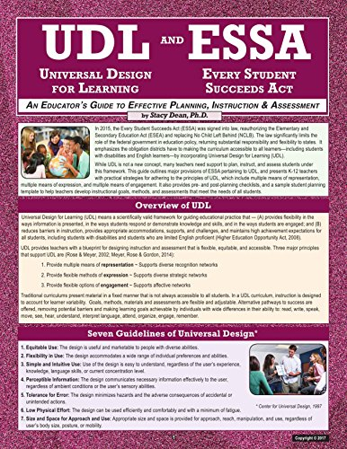 UDL and ESSA: An Educator's Guide to Effective Planning, Instruction & Assessment
