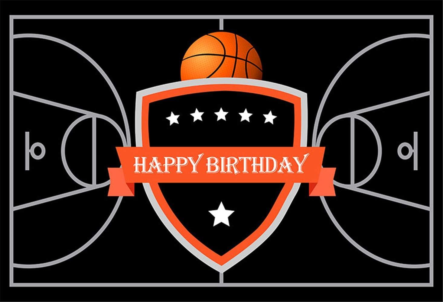 Amazon Com 7x5 Black Basketball Backdrops For Photography Custom Basketball Court Floor Photo Background For Boy Birthday Parties Basketabll Season Banner Camera Photo