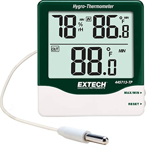 Extech 445713-TP Big Digit Indoor/Outdoor Hygro-Thermometer